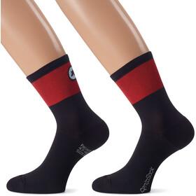 assos CentoSocks_Evo8 sukat Unisex , punainen/musta